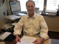 Clive at desk