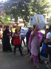 Women protesting in Mumbai