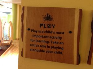 """Play""  as and for learning is the philosophy that guides the program at the Children's museum."