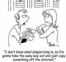plagarizing