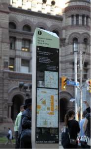 Interactive signage up currently up in Toronto, Canada