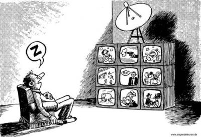 dad at TV