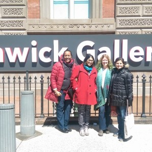 An afternoon at the Renwick with artist Jennifer Angus who currently has an exhibit at Wonder (Angus is 2nd from the right)